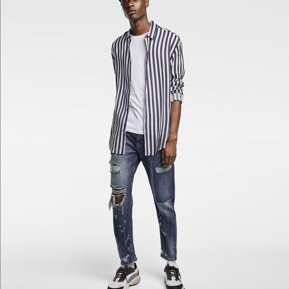 8b5c29f4 Zara Jeans | Nwt Man Carrot Cut Distressed | Poshmark